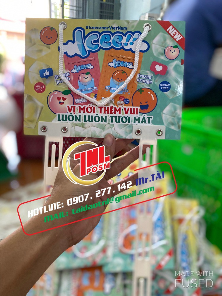 Vỉ treo bánh kẹo, vỉ treo format, vỉ treo dây nhựa