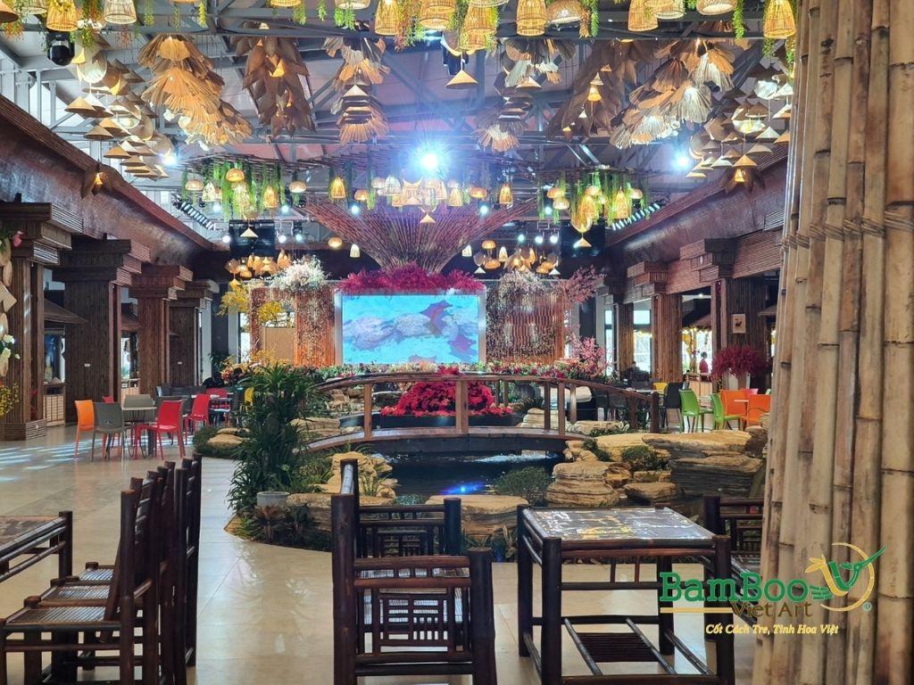 Thiết kế nhà tre, xây dựng nhà tre, thi công resort tre, nhà hàng tre, không gian văn hóa tre