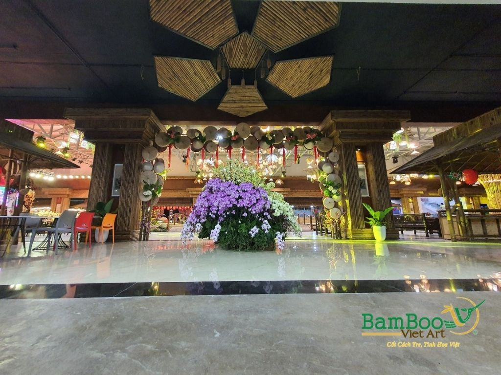 Thiết kế nhà tre, xây dựng nhà tre, thi công resort tre, nhà hàng tre, không gian văn hóa tre - Ảnh: 13