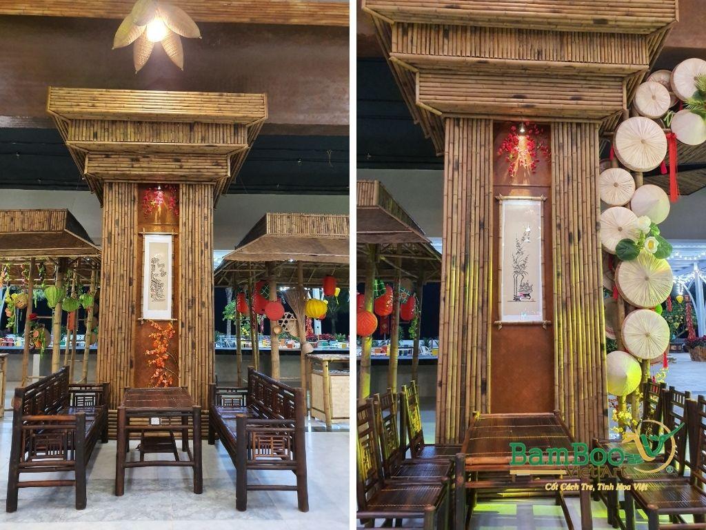 Thiết kế nhà tre, xây dựng nhà tre, thi công resort tre, nhà hàng tre, không gian văn hóa tre - Ảnh: 17