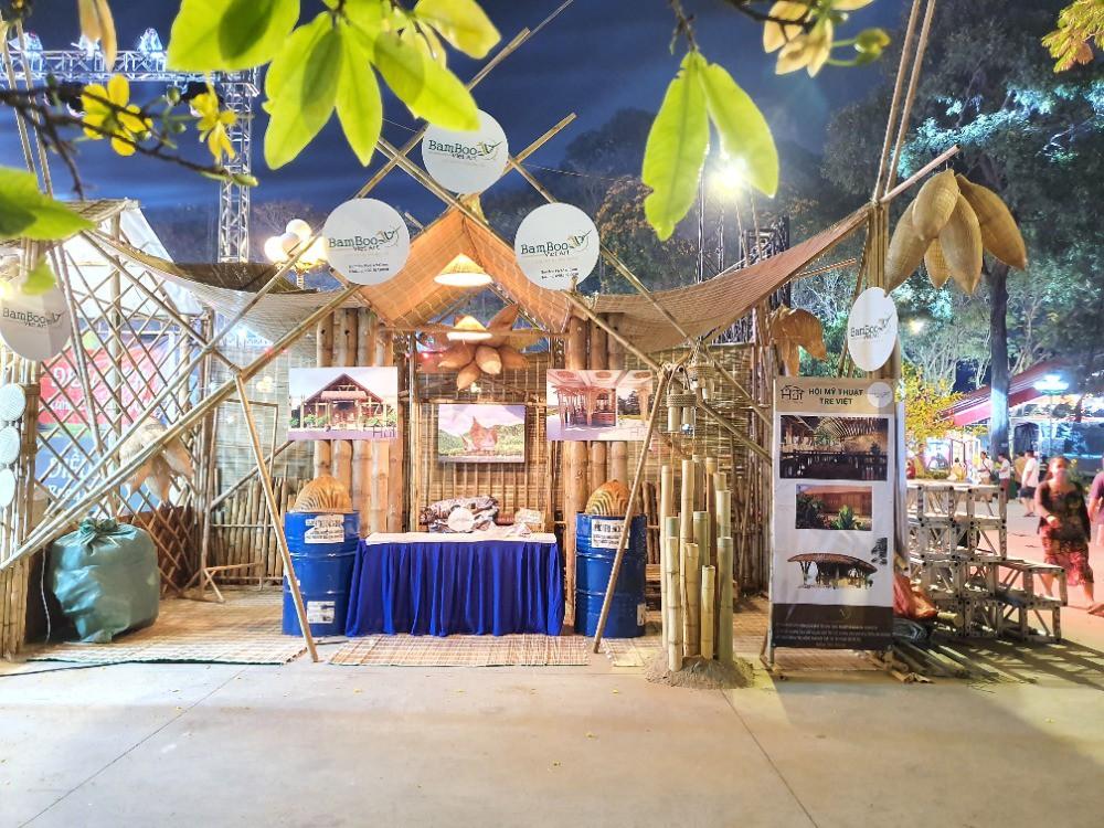 Thiết kế thi công gian hàng hội chợ bằng tre trúc TPHCM