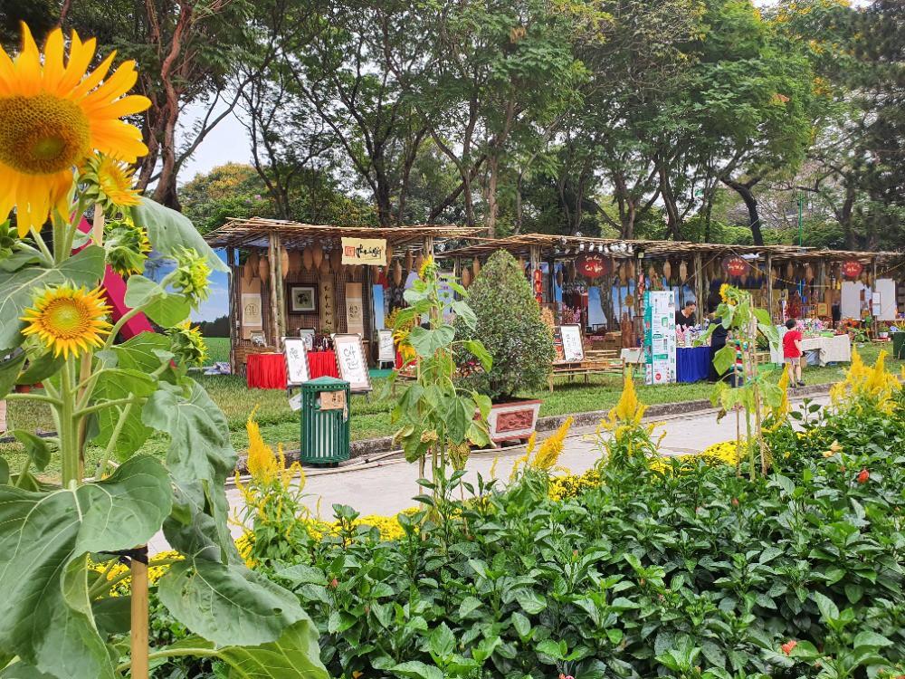 Set up dựng gian hàng hội chợ Xuân, chợ quê, hội làng, Tết quê giữa lòng thành phố