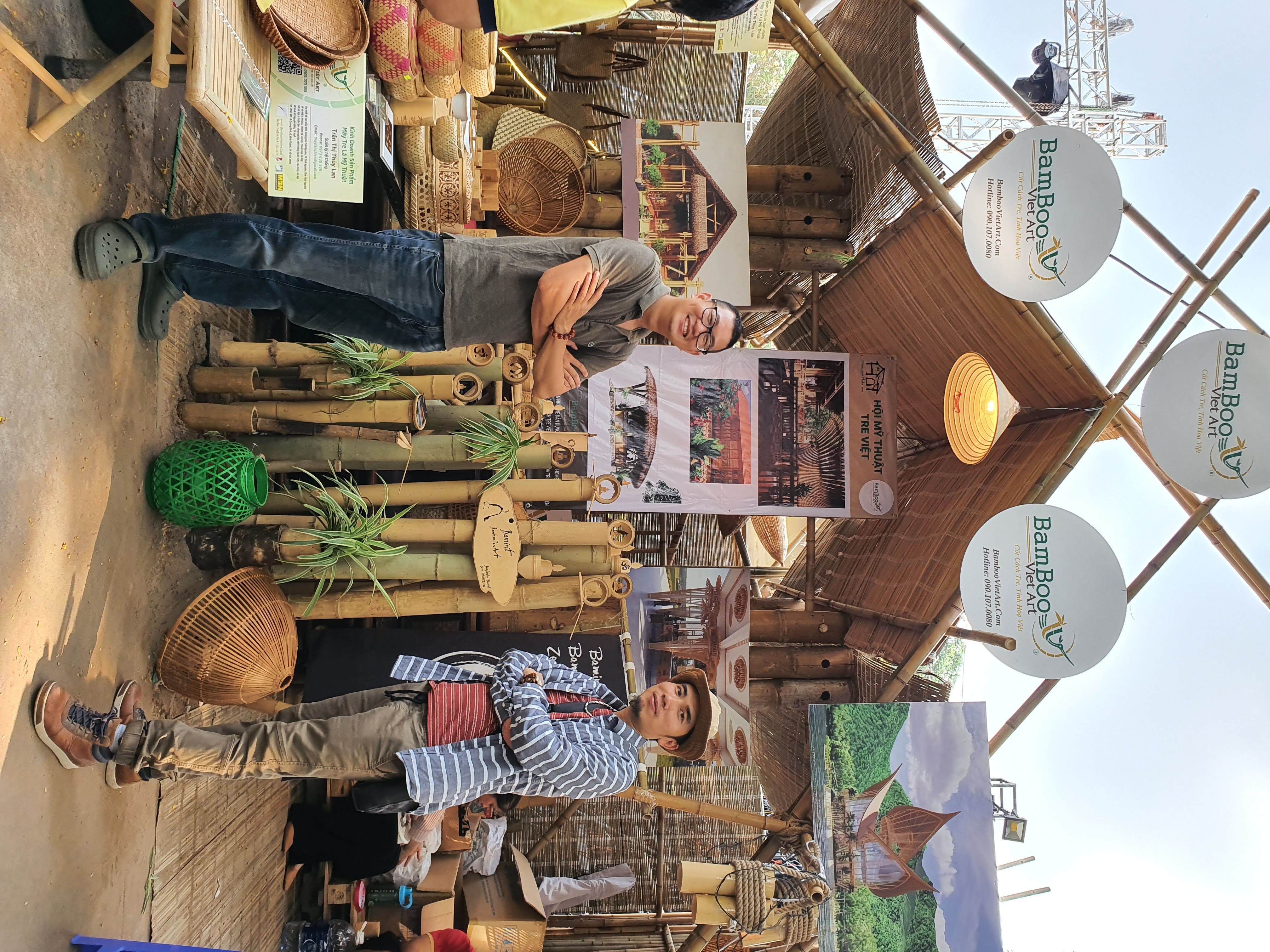 Gian hàng tre trúc - Thiết kế và thi công gian hàng tre trúc mái lá cho hội chợ sự kiện, lễ hội ẩm thực