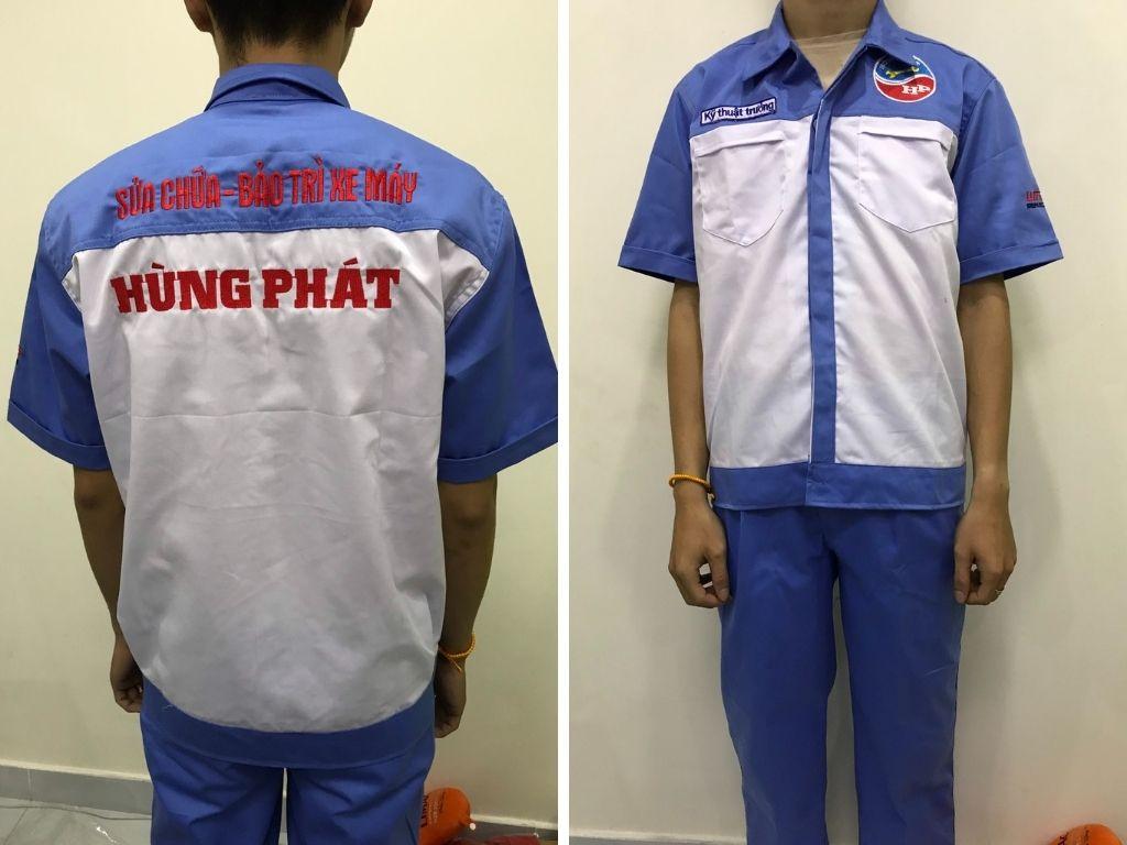 May đồng phục sửa xe Honda, Yamaha, Piagio tại TPHCM
