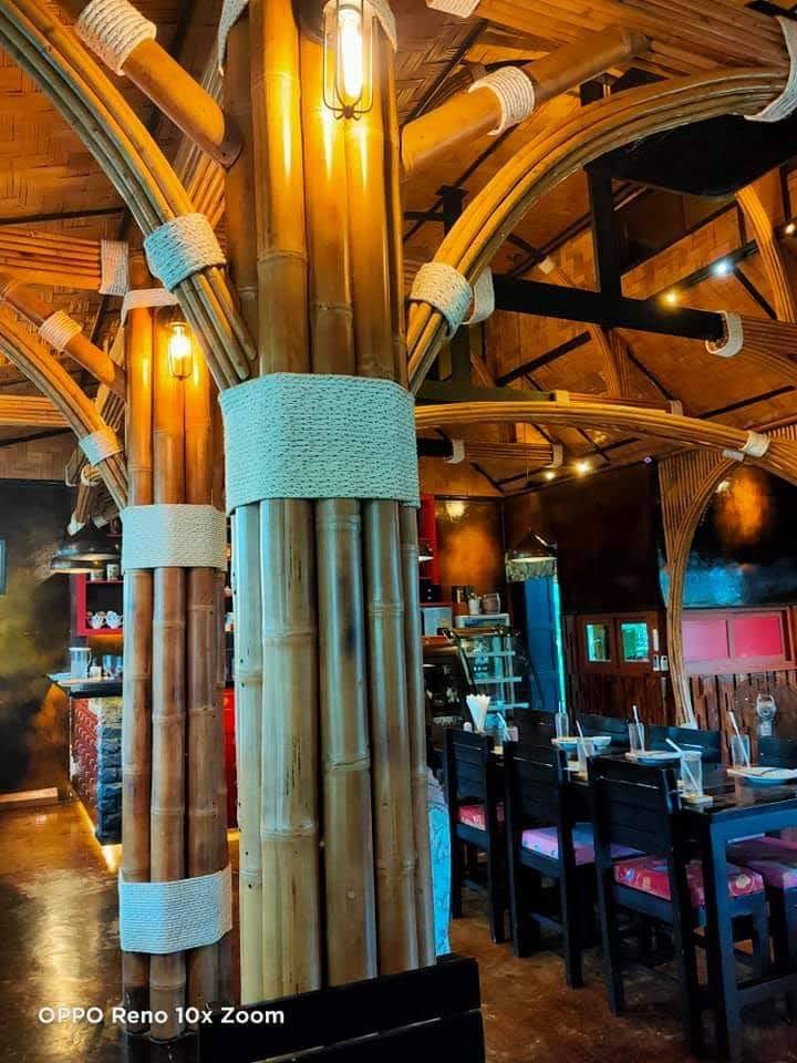 Cột nhà bằng vật liệu tre đầy nghệ thuật sáng tạo
