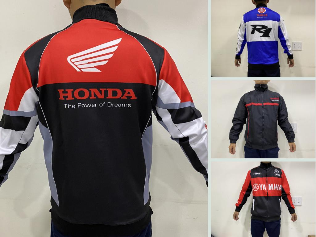 Xưởng may áo gió đồng phục đi phượt bằng xe máy TPHCM - Áo gió Honda Racing, Yamaha Racing