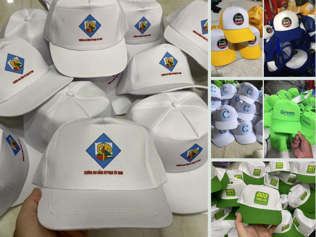 Xưởng sản xuất nón kết học sinh, mũ lưới trai du lịch - nhận may in logo từ 5 cái TPHCM