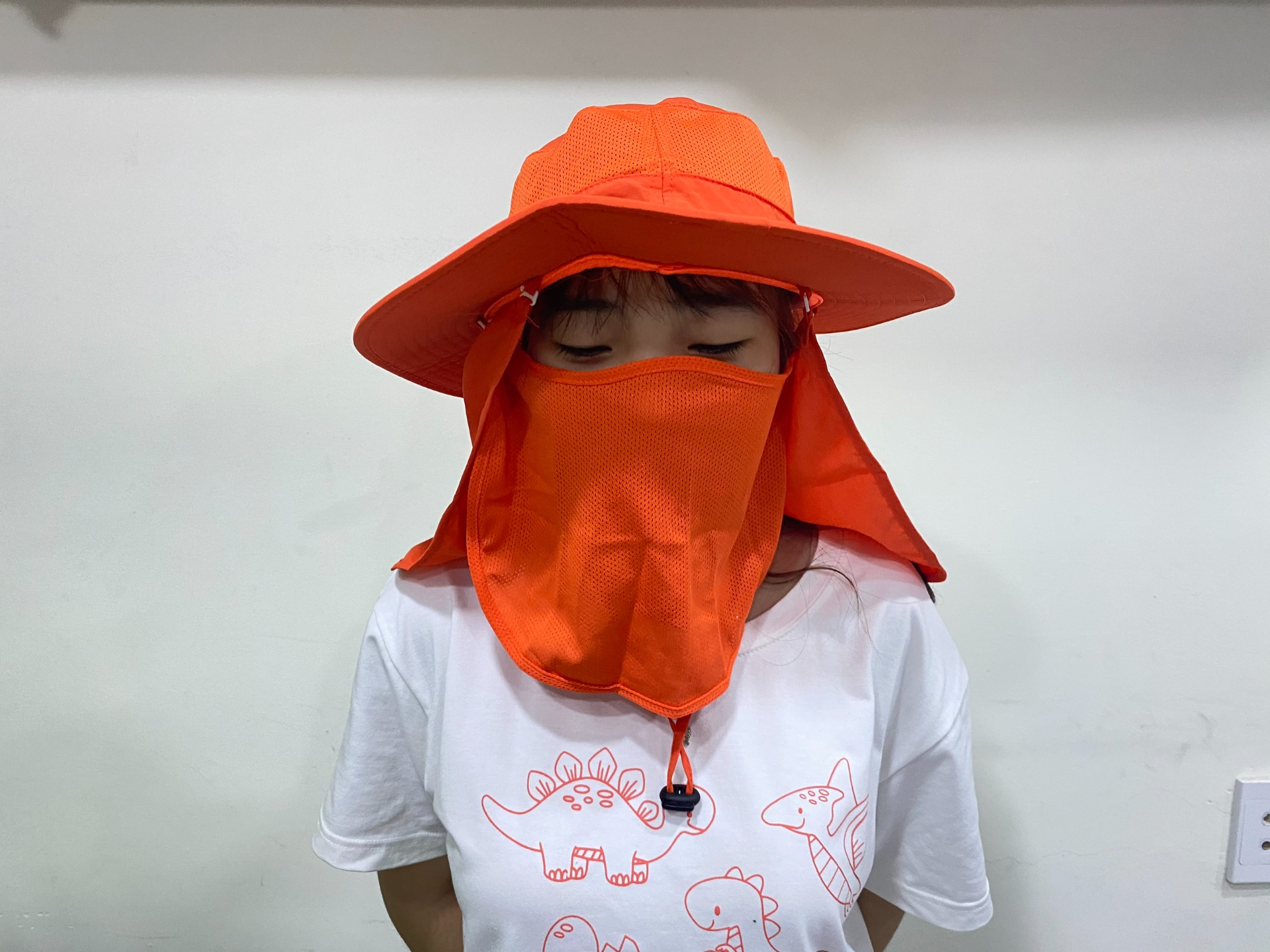 xưởng may mũ chống nắng, mũ trùm mặt kèm khẩu trang