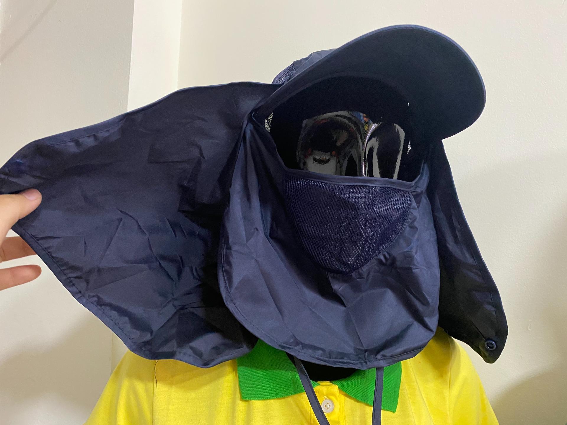 Xưởng may mũ chống nắng trùm mặt, mũ khẩu trang che nắng, che gáy