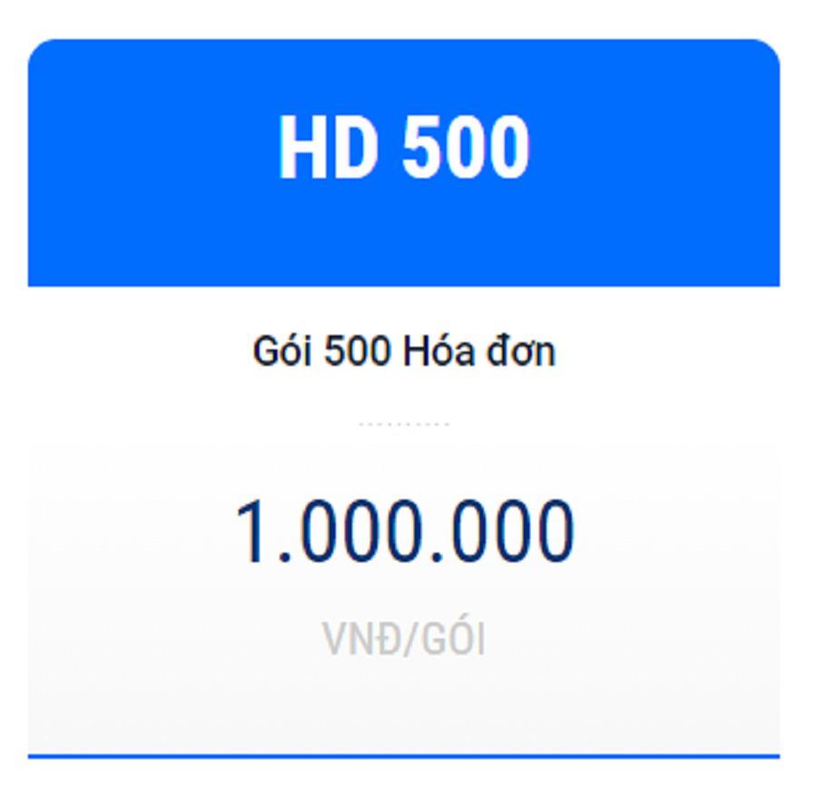 Hóa đơn điện tử HD500