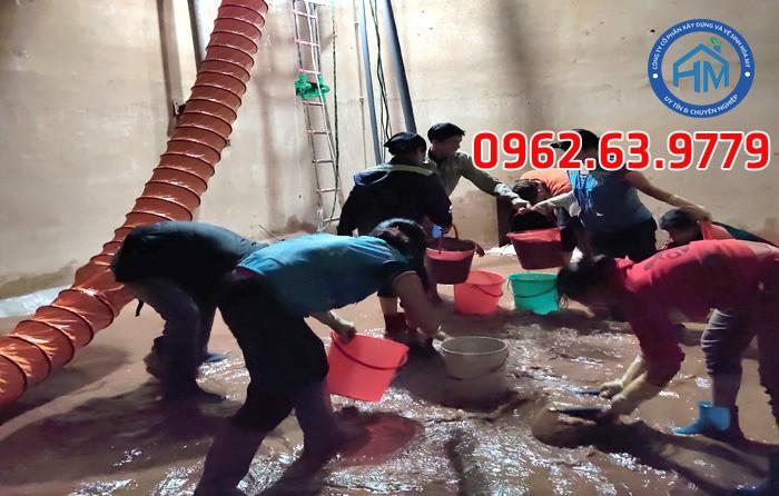 Dịch vụ thay rửa bể nước ngầm tại Hà Nội