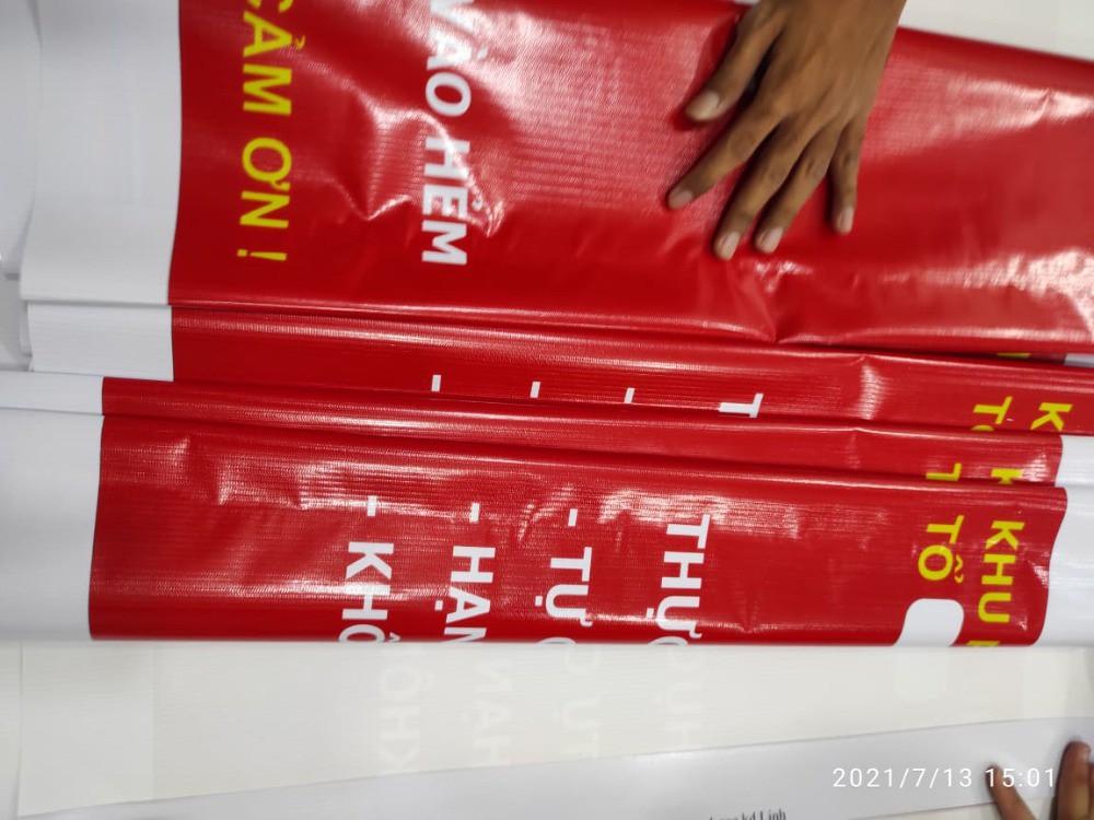 In Hiflex giới thiệu xưởng in banner biển báo: Chốt bảo vệ vùng xanh