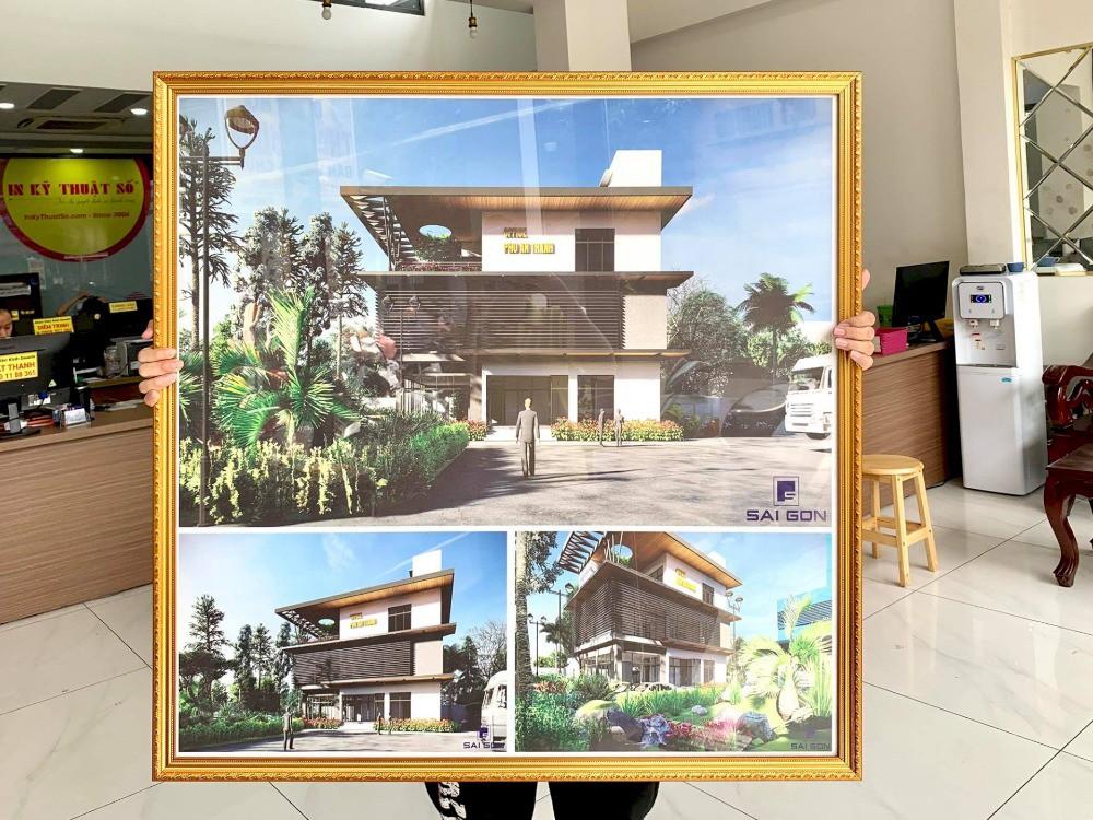 Xưởng in tranh treo tường cho văn phòng nhà đất - đóng khung theo yêu cầu