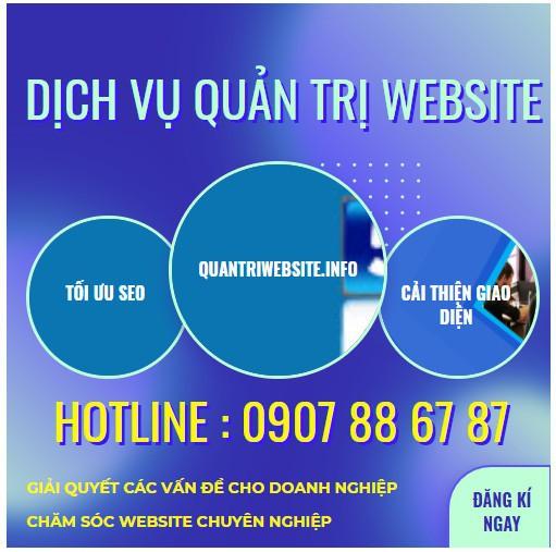 Dịch vụ quản trị nội dung website tại hcm