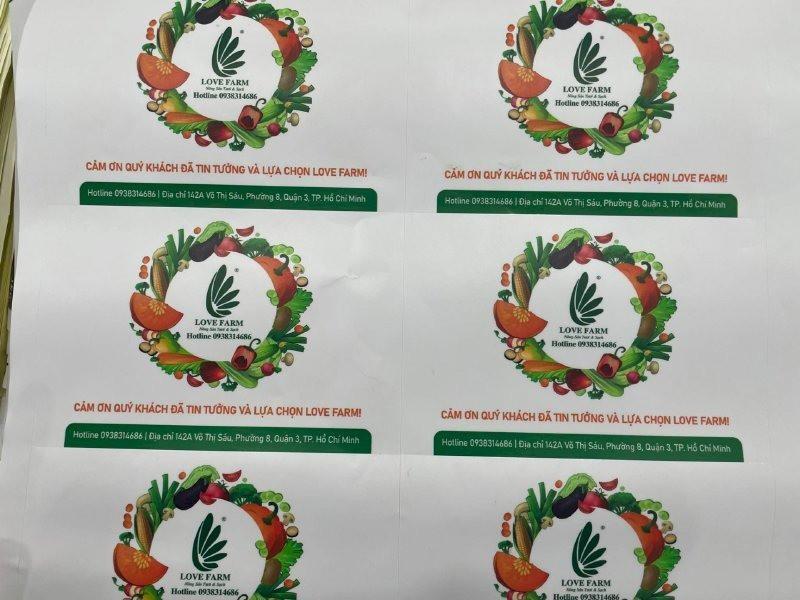 In tem nhãn Nông sản tươi & sạch - tem nhãn rau củ quả | In Kỹ Thuật Số Since 2006