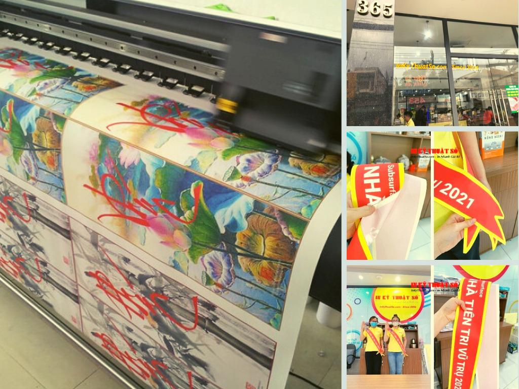 Top 10 công ty in vải silk rẻ, đẹp, nhanh làm tranh, cờ, băng chéo người, đội đầu, đeo cổ tay tại TPHCM