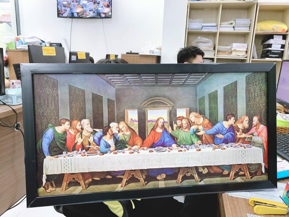 In tranh Công giáo Bữa Tiệc Ly | Đóng khung gỗ đen trang trọng | In Kỹ Thuật Số Since 2006