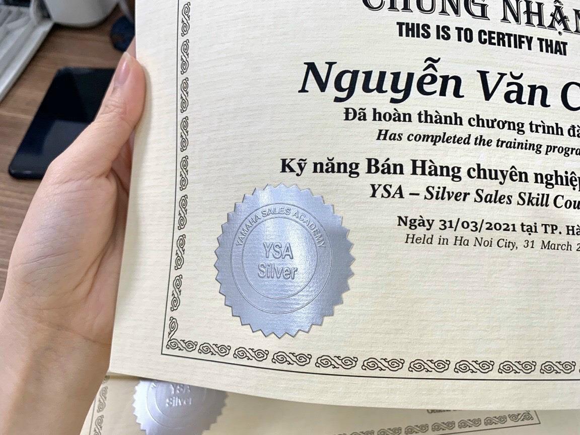 In giấy chứng chỉ TPHCM, in giấy chứng nhận khen thưởng
