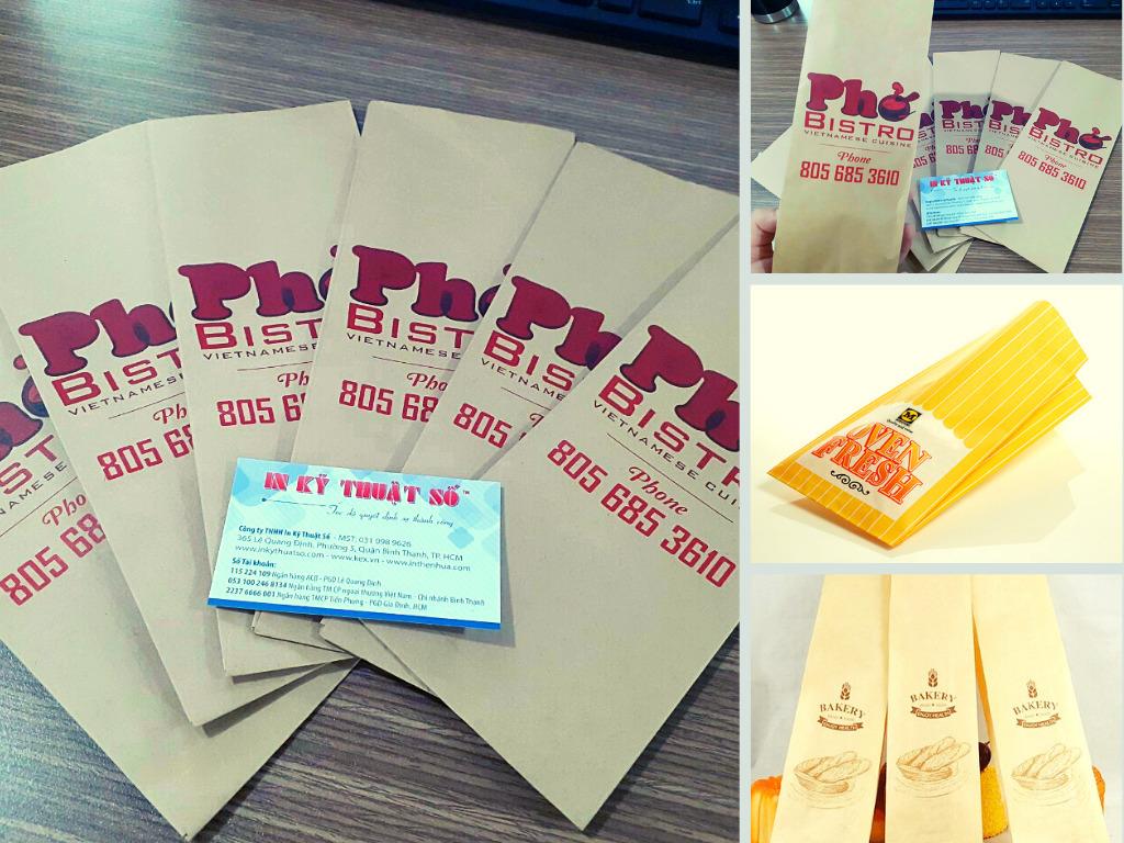 Top 10 công ty in túi giấy bánh mì giá rẻ, giấy gói bánh mì, túi giấy bánh mì in sẵn TPHCM