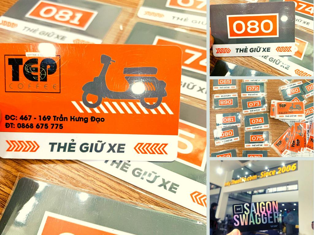 Top 10 công ty in thẻ nhựa giữ xe lấy liền, vé gửi xe bằng thẻ nhựa PVC TPHCM