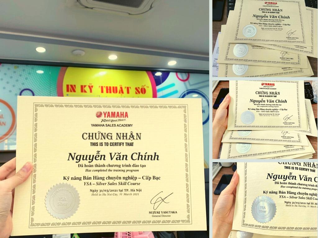 Top 10 xưởng in giấy chứng nhận, chứng chỉ đẹp, trang trọng TPHCM