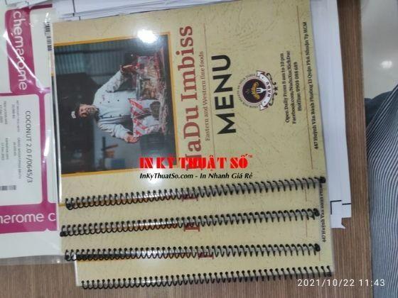 Cuốn menu, sổ menu, làm sổ menu, làm cuốn thực đơn - In Kỹ Thuật Số Since 2006