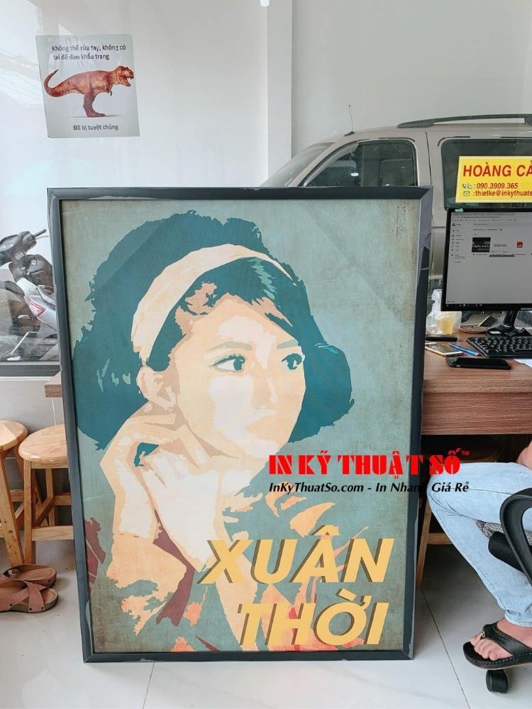 In tranh Canvas Cô Ba Sài Gòn - Tranh treo tường Cô Ba Xuân Thời | In Kỹ Thuật Số Since 2006