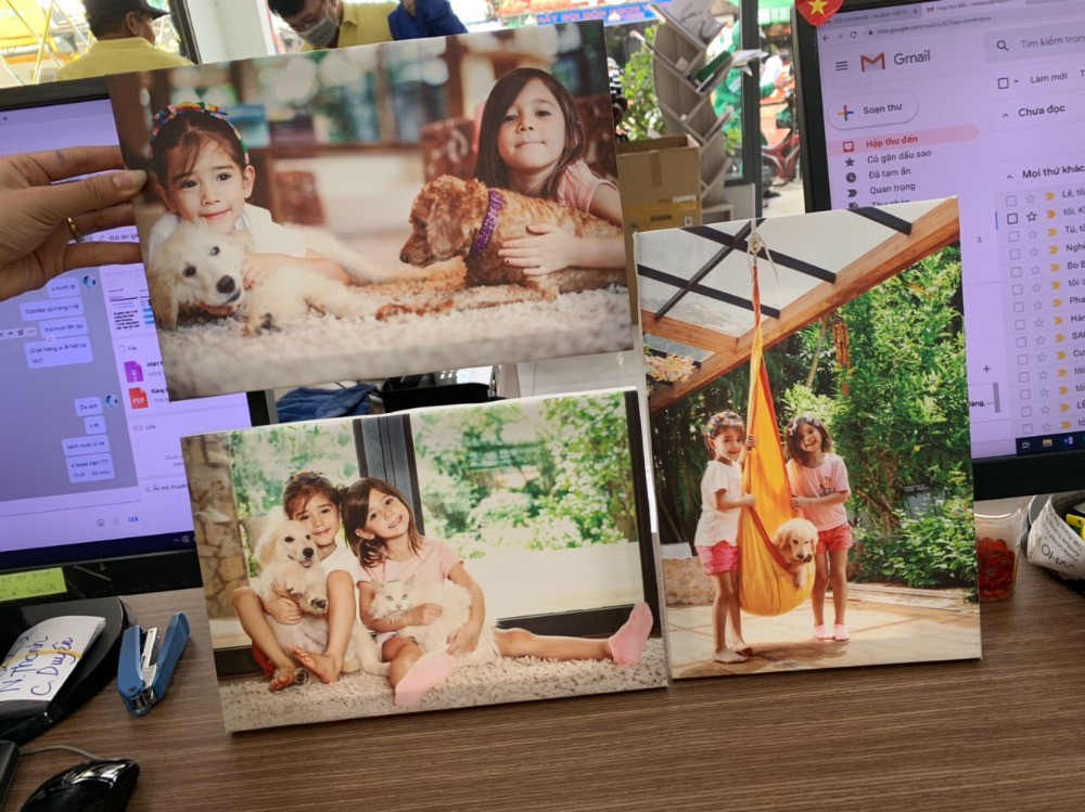 In tranh canvas từ ảnh chụp gia đình | In Kỹ Thuật Số Since 2006